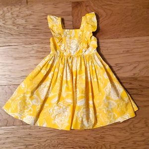 Kelly's Kids Yellow Floral Summer Dress